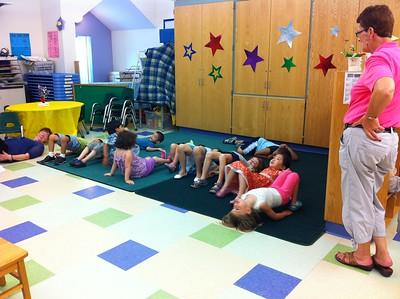Last-day-of-preschool yoga.