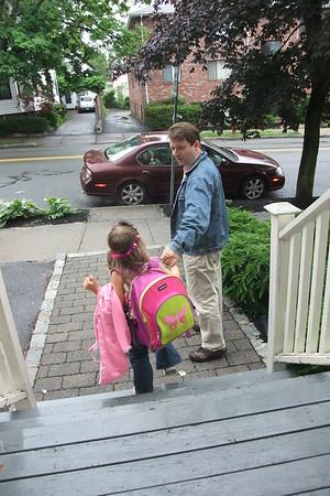 Anya on the way to school.