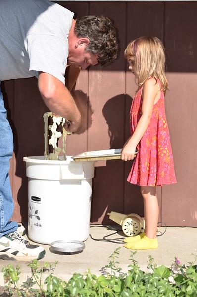 Anya helps Steve make ice cream.