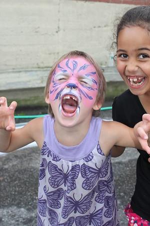 Anya and Giovanna at the Marshmallow Fluff festival.