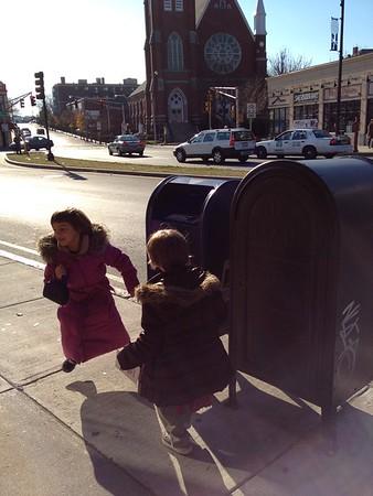 Mailbox excitement.