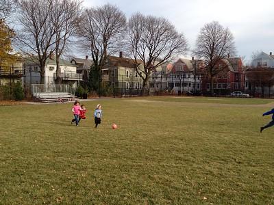 Anya on the ball field.