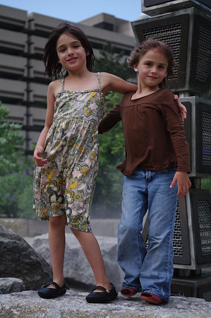 Anya and Guen on the Rose Kennedy Greenway.