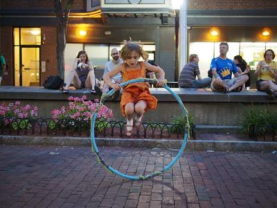 Hoop jump.