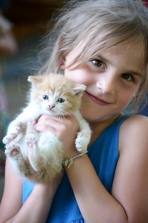 Anya and kitten.