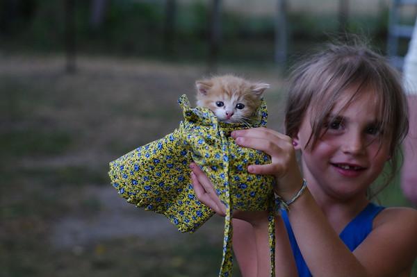 Anya and kitten