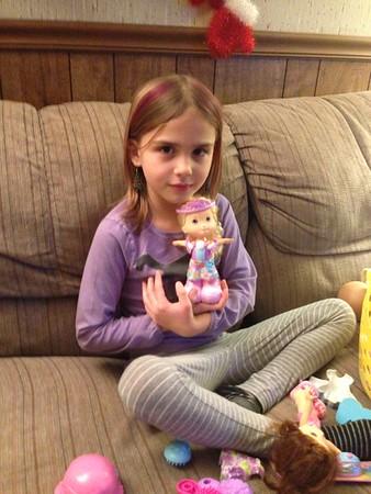 Anya and doll.