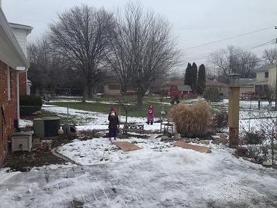 Yeah, Anya is eating snow.
