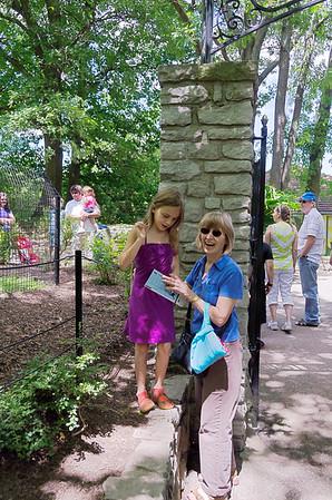 Anya and Nana check the map.