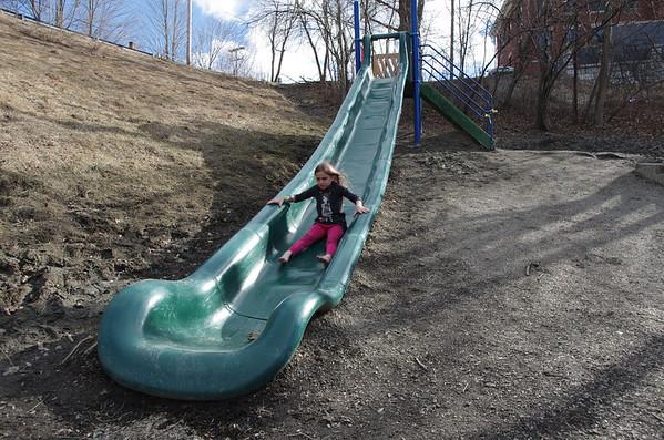 The big slide in Montpelier, Vermont.