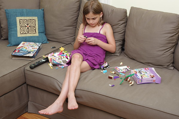 Lego on the couch.