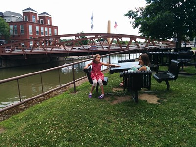 Travel break along the Erie Canal.