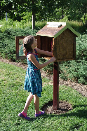 The little library has no kids' books.