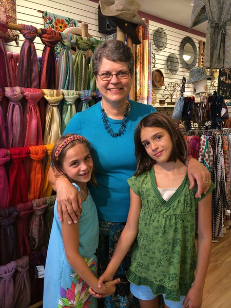 With Grandma at Global Gifts.
