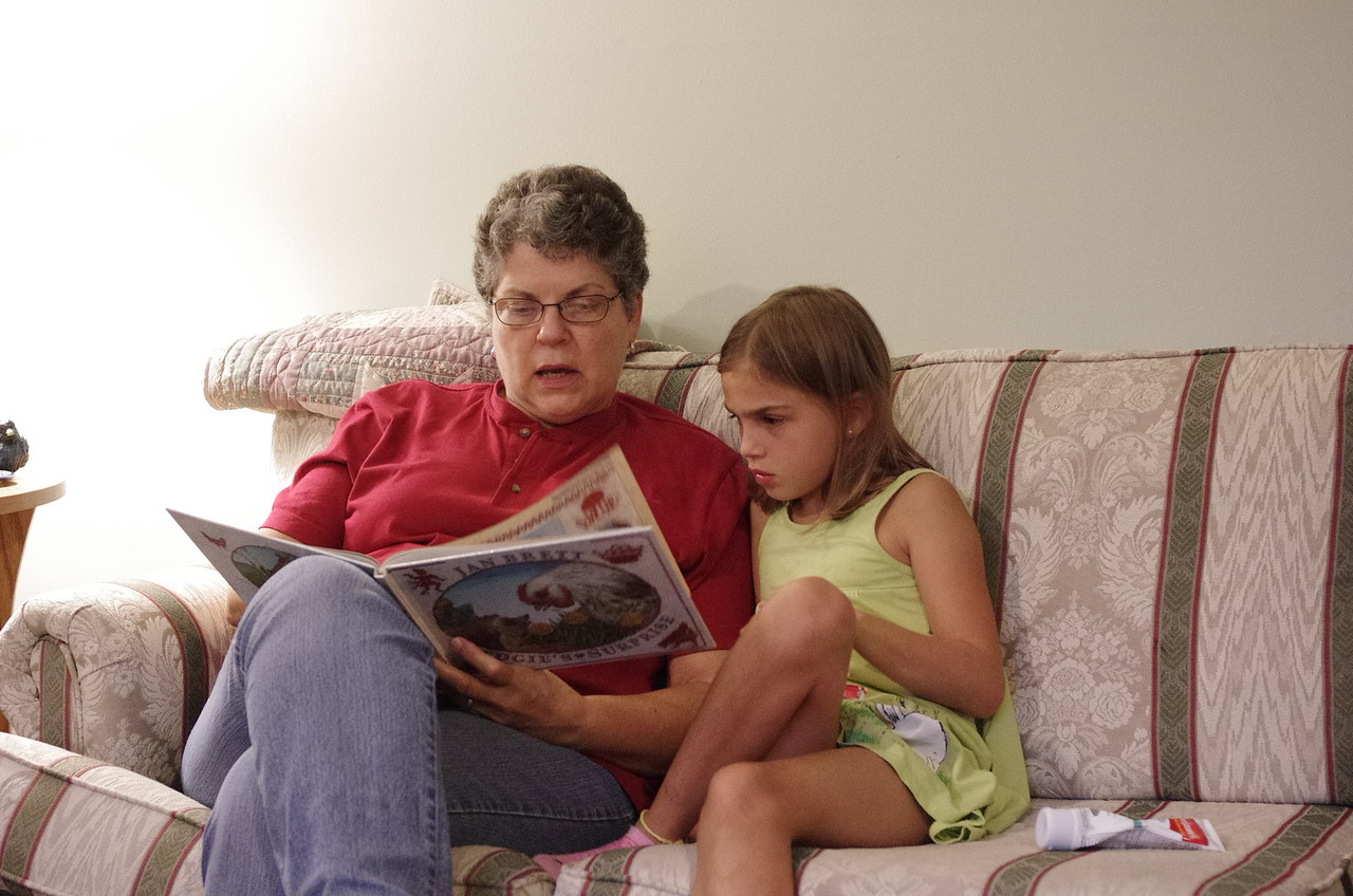 Bedtime story with Grandma.