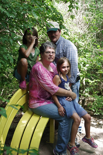 With Grandma and Grandpa at the 100 Acre park.