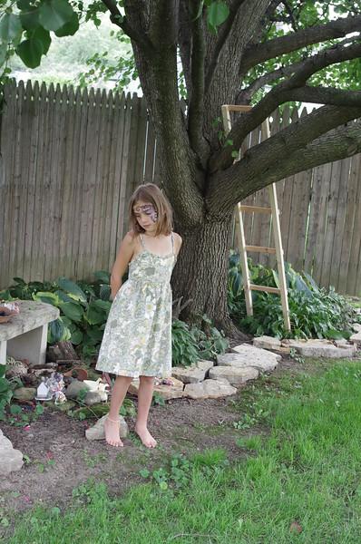 Anya in the backyard.