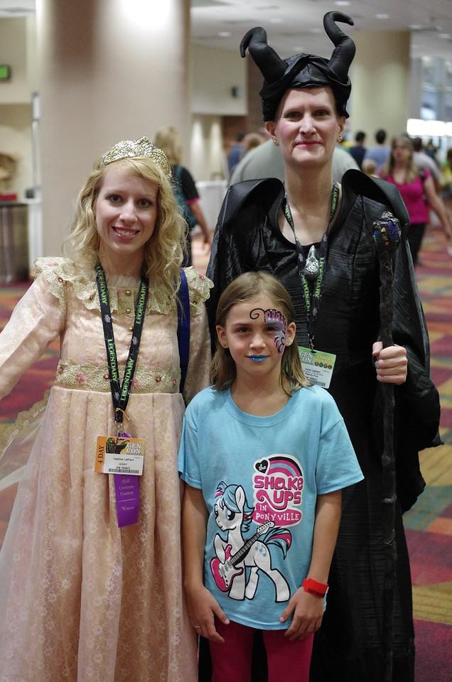 Aurora and Maleficent.
