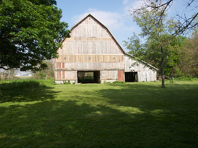 The exterior of the barn's in a good deal better shape than when I sold it.