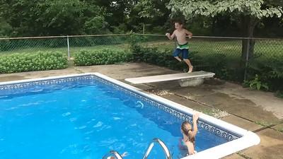 Jack doing the pencil dive