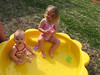 Camden and Claire taking their first swim of the year.