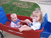 We had so much fun going for a ride in our new wagon!!