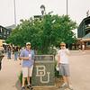 Rex and David at the baseball park.