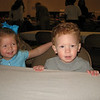We went to an awards luncheon for Marme'.  Jax and Camden waiting to eat.