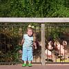 Camden and the flamingos.
