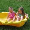 It was 85 degrees and the girls wanted to go swimming.  They didn't seem to mind that the water was a bit chilly.