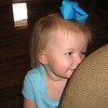 Claire playing peek-a-boo with Pops.