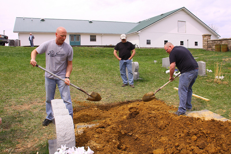 My brother's sons, Matt and Trevor were always at hand to help.