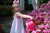 Watering the flowers.