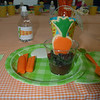Rabbit food (aka pudding with oreo cookies and iced carrot cookies, yum!)