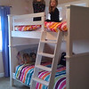 The bunkbeds he made are awesome!