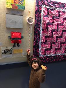 Hannah's art at Bryant Art Night!