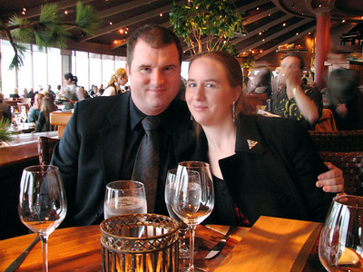 Joel and me at dinner at Palisade