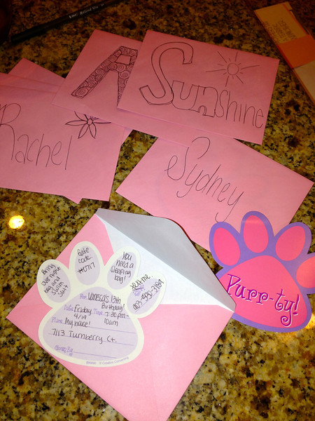 Invitations to Vanessa's 13th Birthday Slumber Party