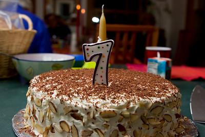 The cake, baked by Rosevita.