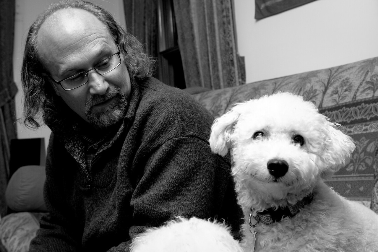 John and Woody, with Bailey's fur below.