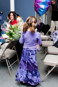Post recital, a balloon and many flowers!