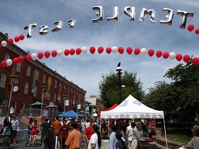 Temple Fest: school organizations on display.