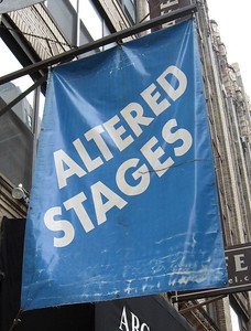 """Altered Stages is the theater space at 212 West 29th Street that The  Intentional Theatre Group used for its production of """"Archipelago""""--the space is also the home for the 29th Street Rep Company."""