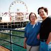 Faye with Andrew, Santa Monica 1990s