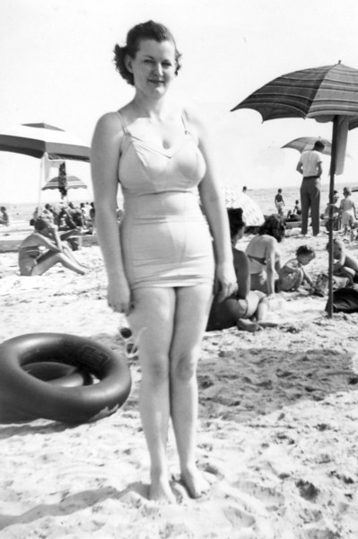 Ethel on the beach