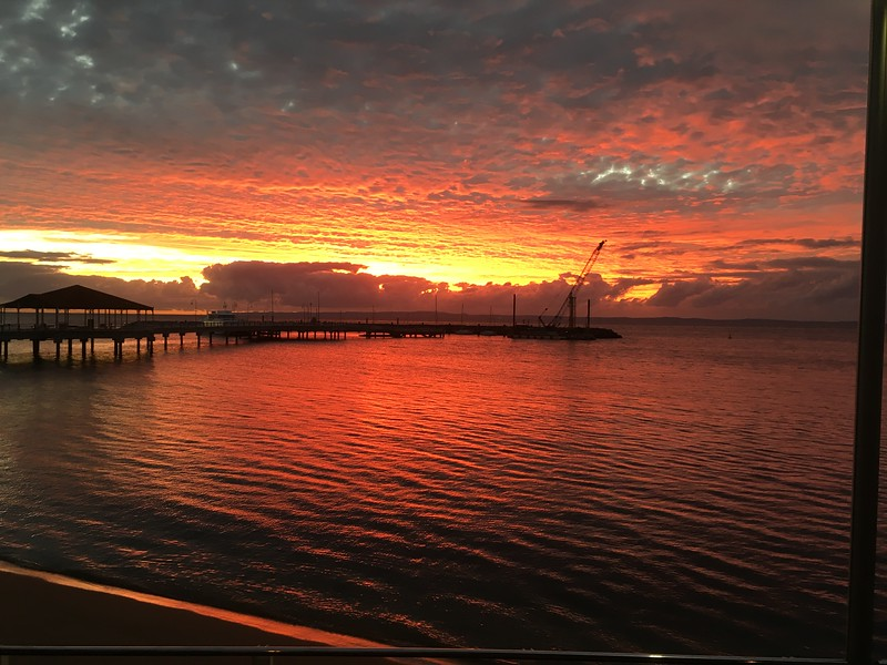 Redcliffe jetty markets sunrise 12/06/16