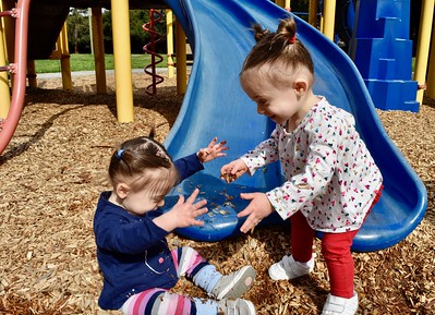 Ariella & Isabel At The Playground-3/19/18