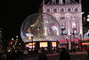 Piccadilly Circus Eros statue  in a 30ft 'snow globe'  to protect it from vandals over Xmas
