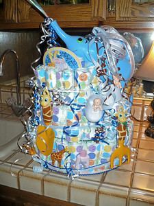 Diaper cake made by Aunt Linda