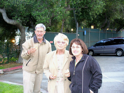 "Our curbside dining at the Greek Theater! Joey, Mom, and Mary We saw ""Celtic Woman"" 5-5-07"
